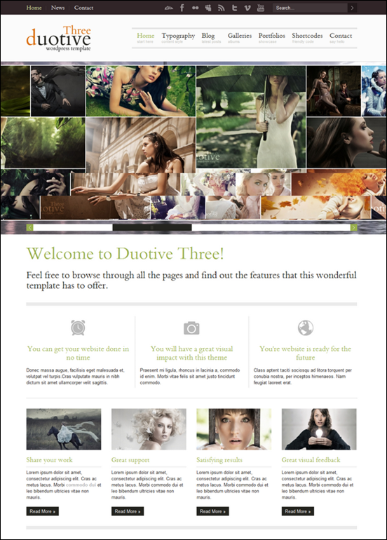 Duotive Three – Complete WordPress Portfolio Template