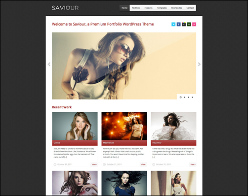 Saviour Responsive WordPress theme