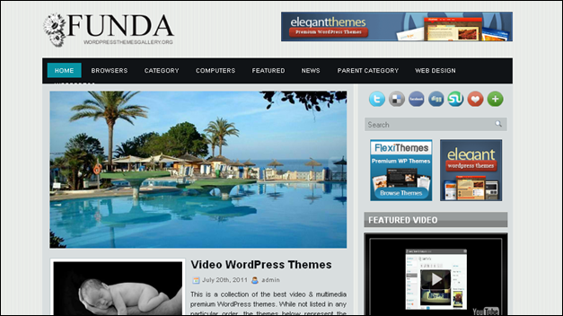 Funda - one of the beautiful travel WordPress Themes