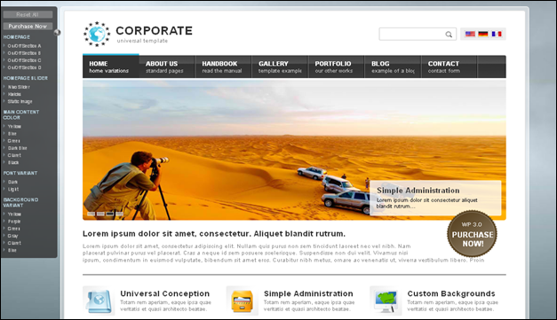 Corporate - one of the beautiful travel WordPress Themes