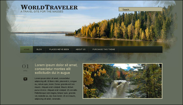World Traveler -  one of the beautiful travel WordPress Themes