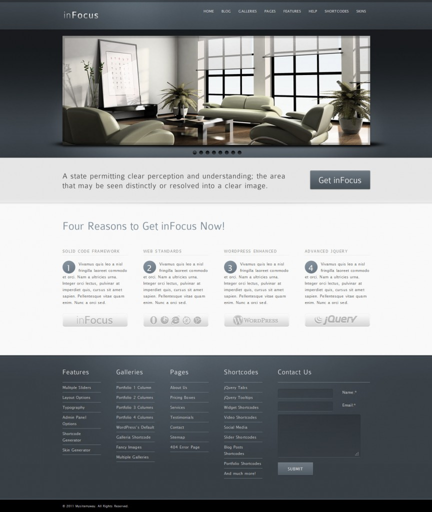 best wordpress theme infocus
