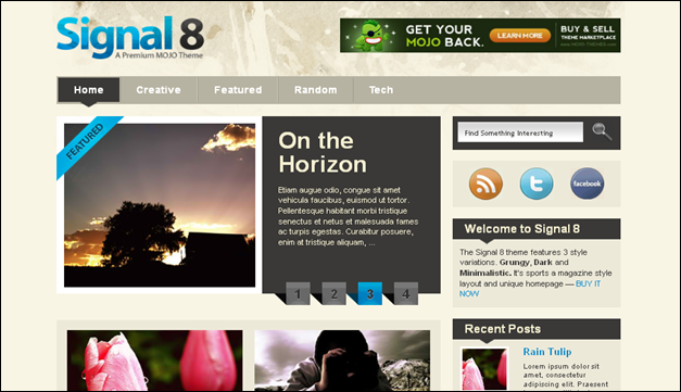 Signal 8 - one of the beautiful travel WordPress Themes