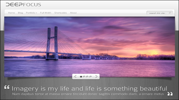 wordpress template DeepFocus