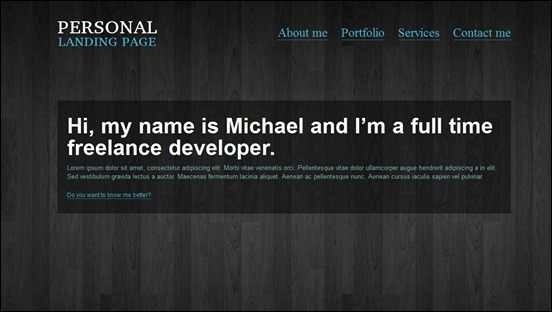personal-landing-page