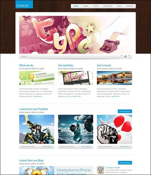 breeze-wordpress-simple-theme