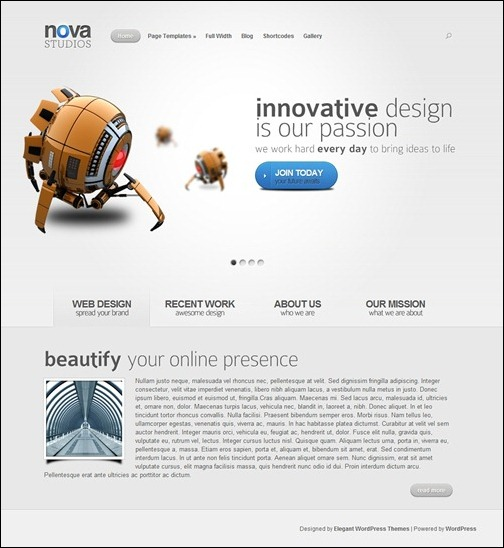 nova-simple-wordpress-theme