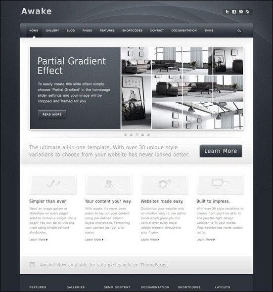 Awake_WordPress page templates