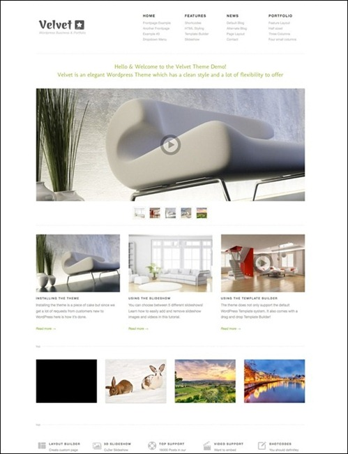 velvet thumb 12 Flexible WordPress Theme