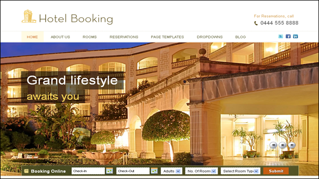 Hotel Booking  - one of the beautiful travel WordPress Themes