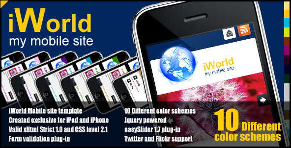 iWorld - mobile website template