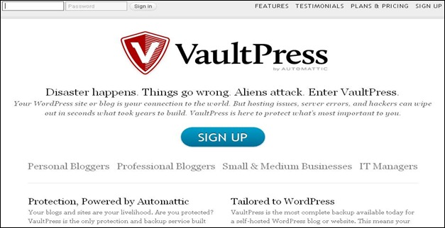 Vaultpress Best WordPress Plugins