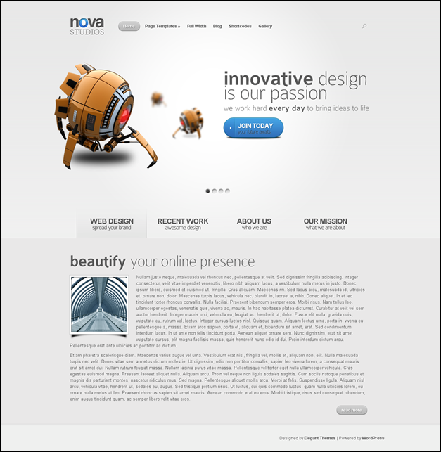 Nova Simple WordPress theme