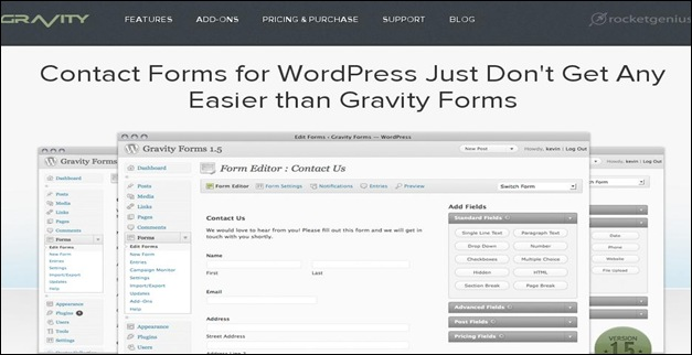 Gravity Forms Best WordPress Plugins