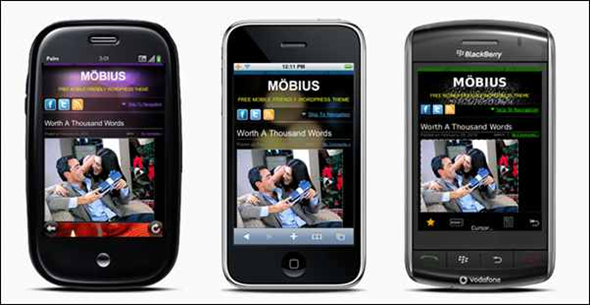 Möbius Mobile Website Template
