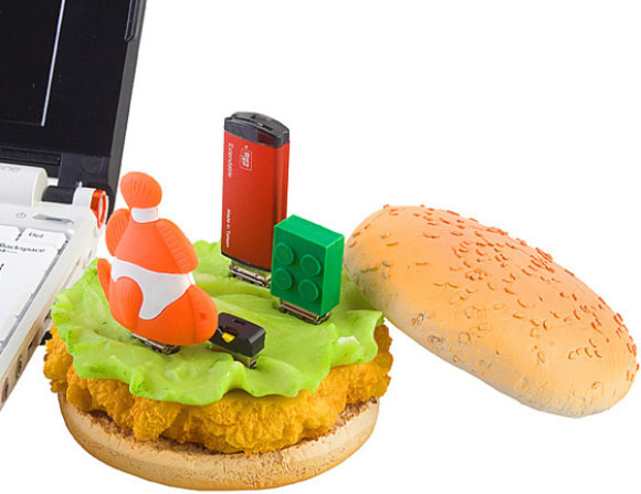 Chicken Burger USB Hub