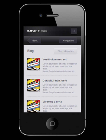 Impact Mobile Website Template
