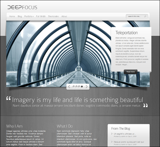 Deep Focus WordPress CMS
