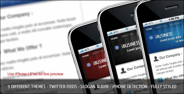 iBusiness iPhone Template