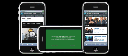 Video Tube Mobile Website Template