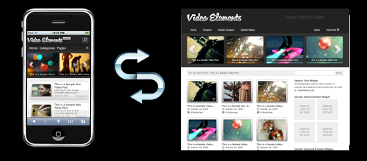 Video Elements Mobile Website Template