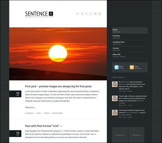sentence-responsive-wordpress-theme