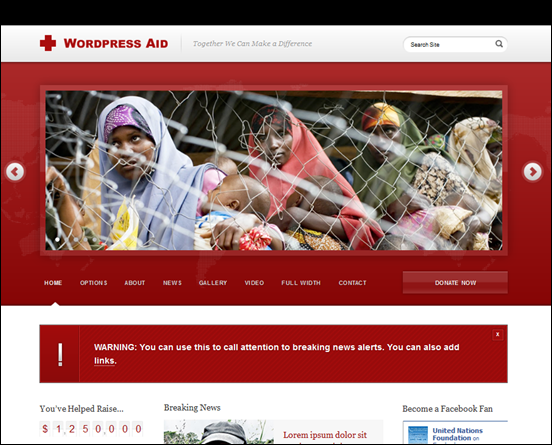 WordPress Aid and Charity
