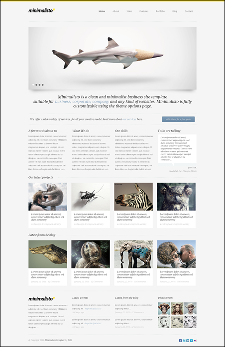 Minimalisto - Premium cool WordPress Theme
