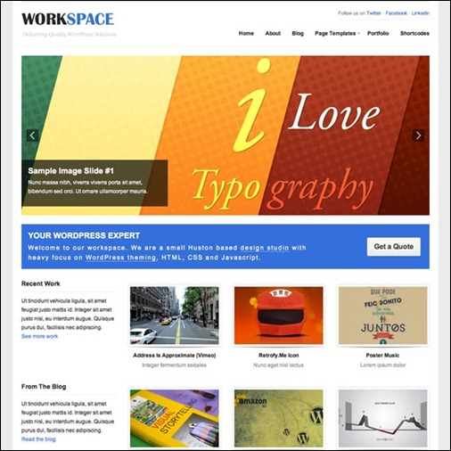 workspace-wordpress-portfolio