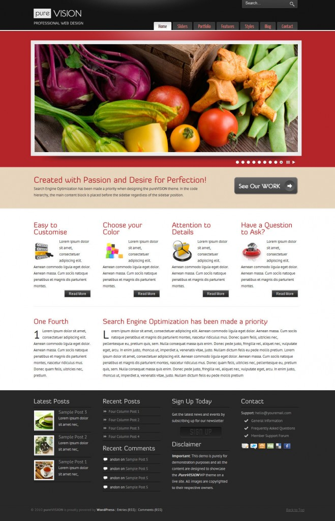 purevision business wordpress themes