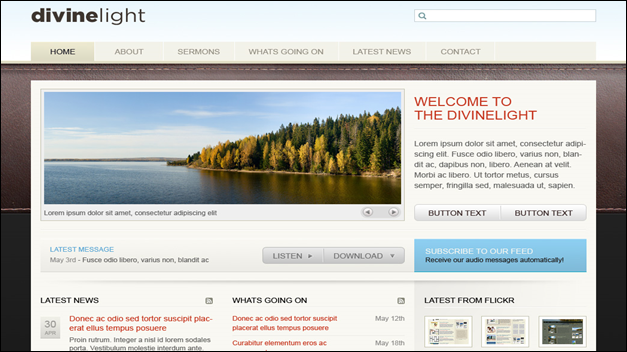 devine Church website templates