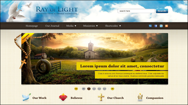light Church website templates