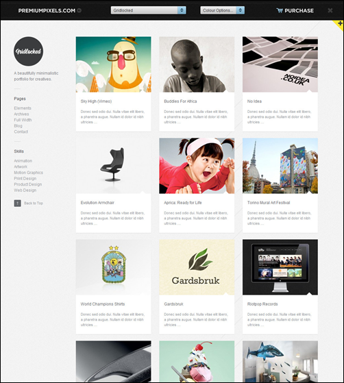 Gridlocked – Portfolio WordPress Video theme