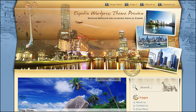 Brochure Melbourne - one of the beautiful travel WordPress Themes