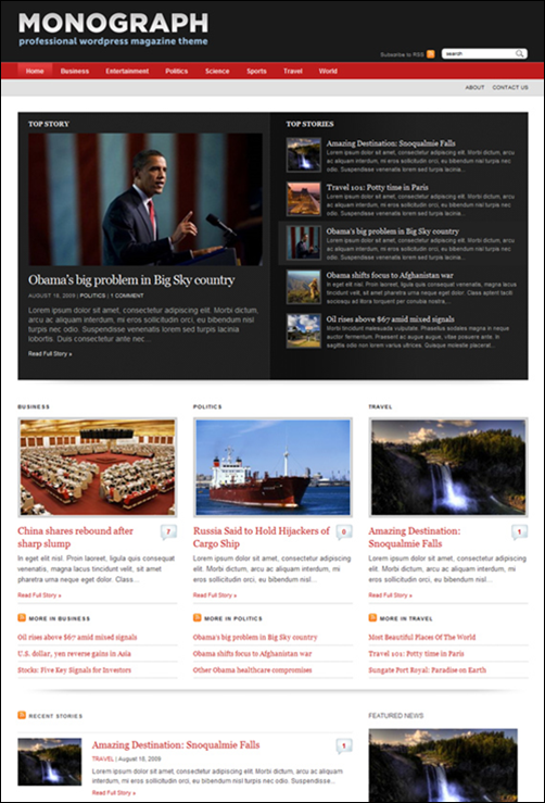 Monograph WordPress News Theme