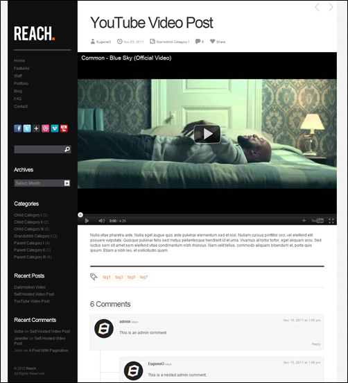 Reach - Business Portfolio WordPress Theme