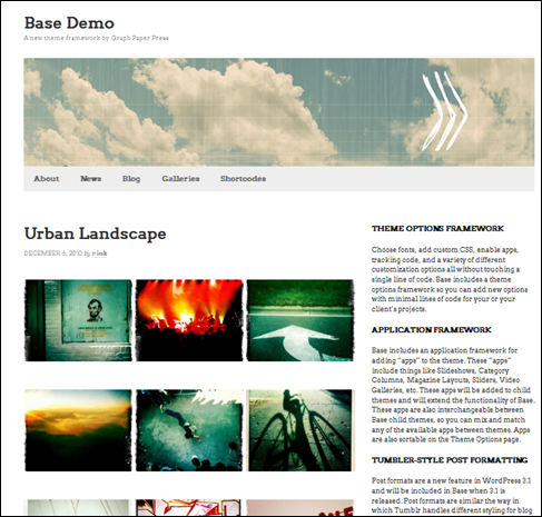 base wordpress portfolio theme
