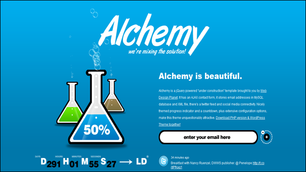 Alchemy - Under Construction Template + WP Theme