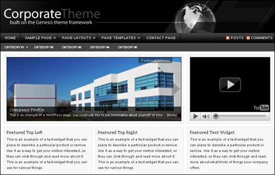 Best Business WordPress Themes for Company Websites-Corporate Child