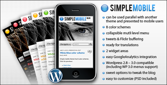 Simple Mobile WordPress Mobile Theme