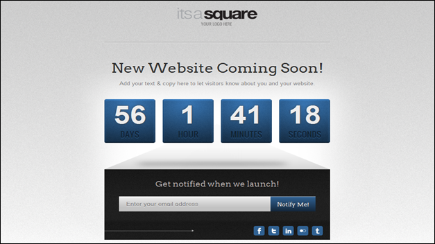 Clean & Modern Under Construction template/ Coming Soon