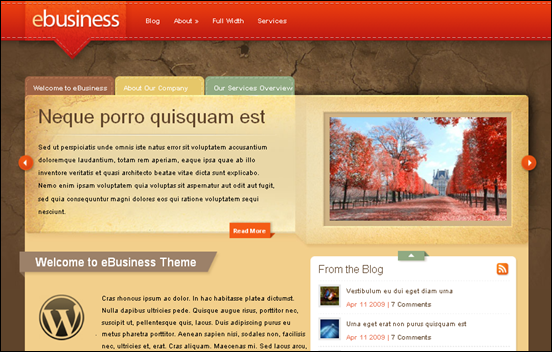 Best Business WordPress Themes for Company Websites-eBusiness