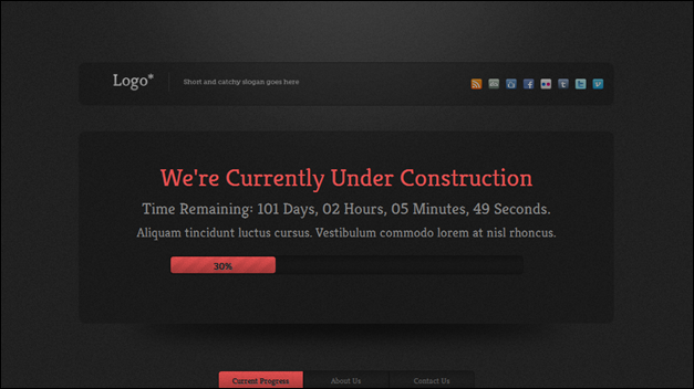 Eleganta Under Construction Page [WP Theme]