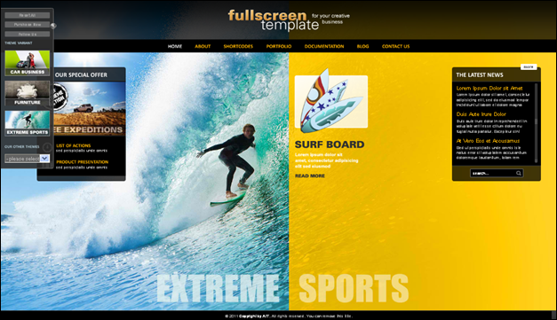 Fullscree Template - one of the beautiful travel WordPress Themes