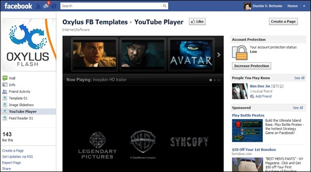 Fan Page You tube Player