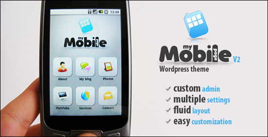 My Mobile Page V2 WordPress Theme