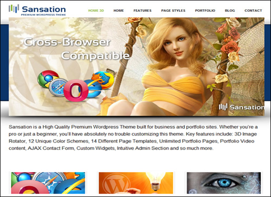 Best Business WordPress Themes for Company Websites-Sansation