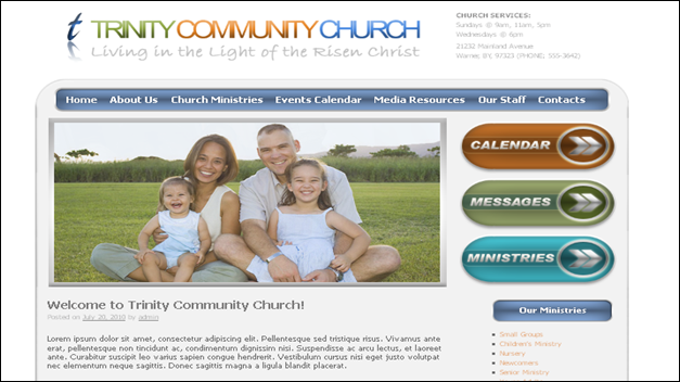 trinity Church website templates