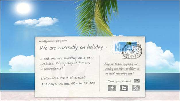 We're on holiday/Under Construction - XHTML Theme