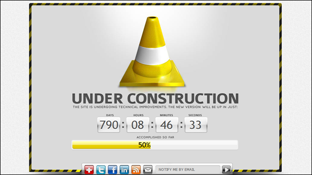 Road Cone Under Construction template